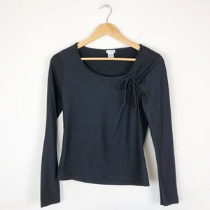 Anthropologie Odille Tie Shoulder Blouse